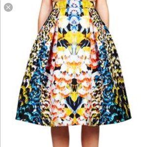 Nickolas Kirk wood multicolored skirt NWOT